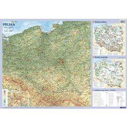 Polska mapa ścienna fizyczno-administracyjna i konturowa 1:1 500 000 Demart