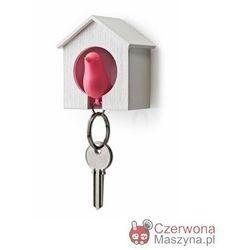 Wieszak na klucze Qualy Budka mała biało - różowa
