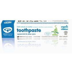 Green People pasta do zębów dla dzieci z miętą i aloesem bez fluoru 50 ml
