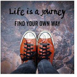 Obraz Życie to podróż, znajdując własną drogę, Cennik