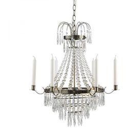 Żyrandol LAMPA wisząca KRAGEHOLM 104417 Markslojd kryształowa OPRAWA świecznikowy ZWIS patyna przezroczysty