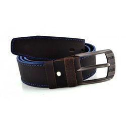 Szeroki Czarno-niebieski pasek męski do spodni Skóra prawdziwa 3,9cm