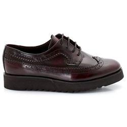 Skórzane buty typu derby na platformie