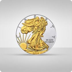Amerykański Orzeł 1 uncja srebra platerowana złotem