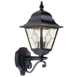 Zewnętrzna LAMPA ścienna NORFOLK NR1 Elstead KINKIET metalowa OPRAWA ogrodowa IP43 outdoor czarny
