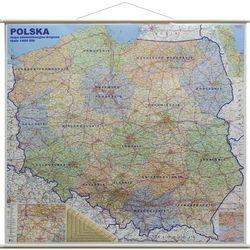 Polska mapa ścienna administracyjno-drogowa 1:600 000