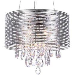 LAMPA wisząca FELLA MDM2130/3 SL Italux ŻYRANDOL abażurowy OPRAWA kryształowa glamour crystal srebrny