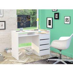 NAIA białe biurko wysoki połysk - biały