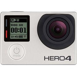 Kamera sportowa GoPro HERO 4 Silver , 4K15 / 1080p60 / 960p100 / 720p120, wodoodporna, WLAN, Touch-Screen, CHDHY-401, Srebrna