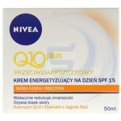 Nivea Visage Q10 Plus Przeciwzmarszczkowy energetyzujący krem przeciwzmarszczkowy do twarzy na dzień 50 ml