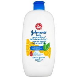 JOHNSON'S BABY 500ml Pure Protect Płyn do kąpieli i mycia ciała 2w1