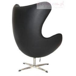 Fotel Jajo czarna skóra #06