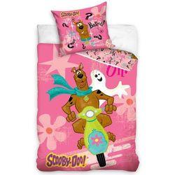 Tip Trade Dziecięca pościel bawełniana Scooby Doo Pink, 140 x 200 cm, 70 x 80 cm