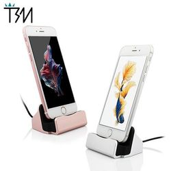 TSM-Loyals Sync Data Charging Dock Station Cellphone Desktop Docking Charger USB Cable For Apple iPhone 5 5S 5C 6 6s Plus Dock