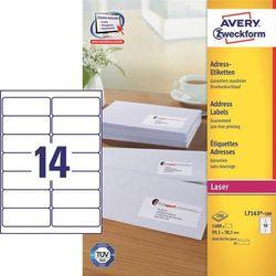 Etykiety Avery Zweckform Adres 99 1x38 1 L7163