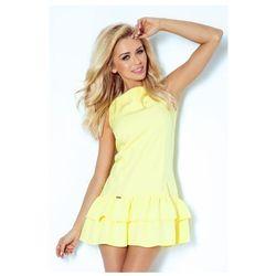 113-1 Sukienka z falbankami - marciano - jasny żółty