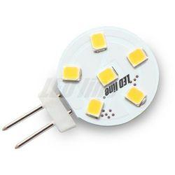 Żarówka LED 6 SMD G4 12V 1,2W biała zimna - biała zimna
