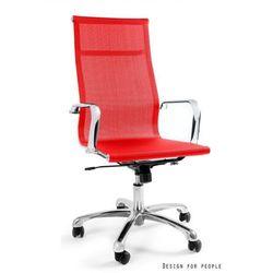 Krzesło obrotowe DRAFTY CZERWONY,