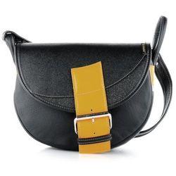 31126e155bf32 Freshman Mini czarna torebka skórzana na ramię. royalpoint.pl