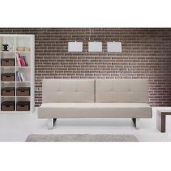 Sofa z funkcja spania jasnobezowa - kanapa rozkladana - wersalka - DUBLIN