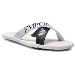 6a39d7a24137b Klapki EMPORIO ARMANI - XYPS03 XOZ08 A001 White/Black