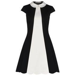 Karen Millen Sukienka z dżerseju black/ivory
