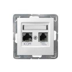 Ospel Impresja Gniazdo komputerowo - telefoniczne, MMC - Biały - GPKT-Y/K/m/00