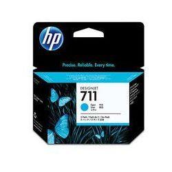 Oryginał Zestaw trzech tuszy HP 711 do Designjet T120/520 | 3 x 29ml | cyan