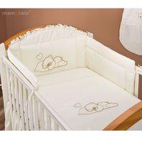 MAMO-TATO pościel 2-el Śpiący miś w kremie do łóżeczka 60x120cm