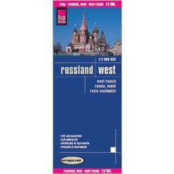 Rosja zachodnia mapa 1:2 000 000 Reise Know-How (opr. twarda)