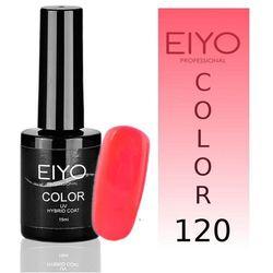 Lakier hybrydowy EIYO Crazy - kolor nr 120 - Koralowo Łososiowy Neon - 15 ml Lakiery hybrydowe