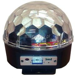 Flash LED Magic Ball MP3 RGBWYP efekt świetlny - półkula