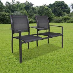 vidaXL Metalowe krzesła ogrodowe z mini stolikiem Darmowa wysyłka i zwroty