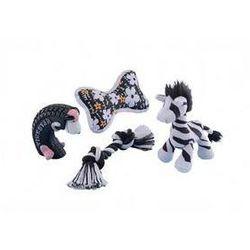 Zabawka dla zwierząt Nobby 4 szt. - zestaw startowy dla szczeniaczka Czarna/Biała