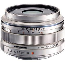 Obiektyw OLYMPUS M.Zuiko Digital 17 mm 1:1.8 Srebrny