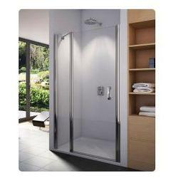 Drzwi jednoczęściowe ze ścianką stałą SanSwiss Swing-Line 120 cm, srebrny mat, szkło przeźroczyste SL1312000107