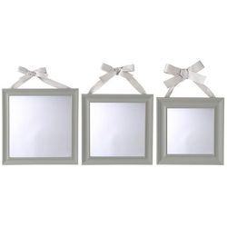 Komplet 3 Luster Ozdobnych W Białej Ramie Lustra Ozdobne Lustro Na ścianę Białe Lustro Lustra Glamour Lustro Dekoracyjne