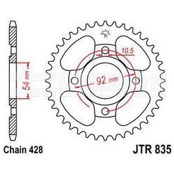 Zębatka tylna stalowa JT 835-48, 48Z, rozmiar 428 2300306 Yamaha SR 125
