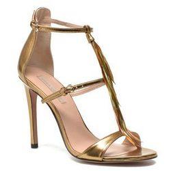 promocje - 10% Sandały Pura Lopez Valencia Damskie Złote 100 dni na zwrot lub wymianę