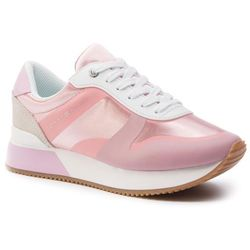35b21894470d0 Sneakersy TOMMY HILFIGER - Pop Color Satin City Sneaker FW0FW04099 Pink  Lavender 518. eobuwie.pl