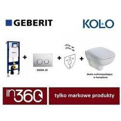 Geberit Koło Style Zestaw Stelaż podtynkowy z miską WC wiszącą, deską w/o (L20112000+L23100000+111.320.00.5+111.815.00.1+115.883.KH.1) IN.000Z390