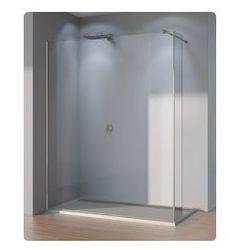 Ścianka stała ze ścianką krótką SanSwiss WALK-IN PUR szerokość 90 do 160 cm, prawa, połysk, szkło przeźroczyste DUOPDSM15007