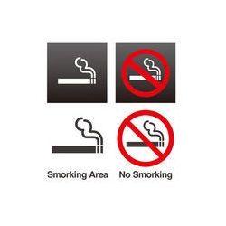 Foto naklejka samoprzylepna 100 x 100 cm - Palenie, Znak zakaz palenia