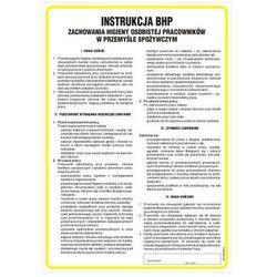 Instrukcja BHP zachowania higieny osobistej pracowników w przemyśle spożywczym