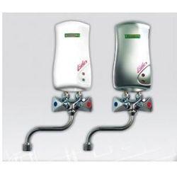 ELEKTROMET LIDER Umywalkowy przepływowy ogrzewacz wody z baterią L-210mm 4kW, bezciśnieniowy, biały 251-21-401