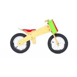 DipDap Rowerek dziecięcy bez pedałów drewniany czerwony Darmowa wysyłka i zwroty