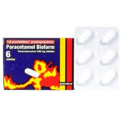 Paracetamol BIOFARM tabl. 0,5 g 6 tabl.