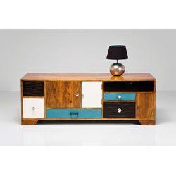 Kare design :: Szafka Malibu (3 szuflady, 3 drzwi) - brązowy, niebieski, czarny, biały ||Komoda Babalou (3 szuflady, 3 drzwi)