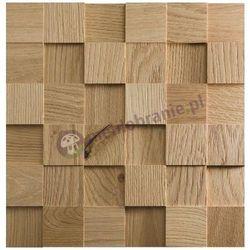 Panele drewniane Dąb naturalny – surowy kostka gładka *044 - Natural Wood Panels