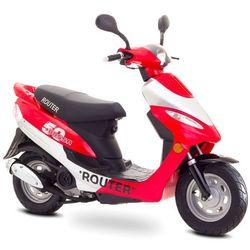"Motorower ROUTER Bassa 10"" 4T Czerwono-Srebrny + DARMOWY TRANSPORT!"